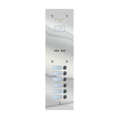 Entryphone - 6 Button Flush Polished Stainless Steel Entrance Panel