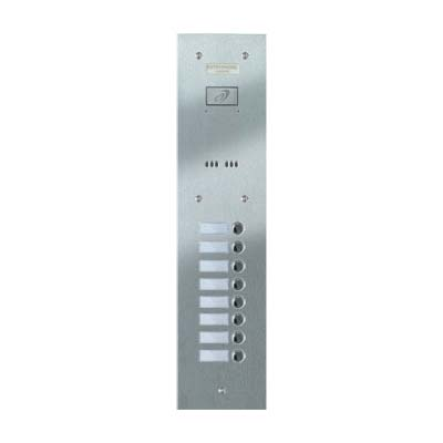 Entryphone - 8 Button Flush Brushed Stainless Steel Entrance Panel