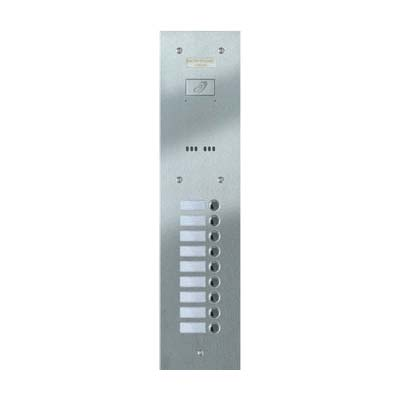 Entryphone - 9 Button Flush Brushed Stainless Steel Entrance Panel