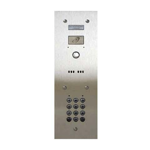 Entryphone - 1 Button Flush Stainless Steel Panel with keypad