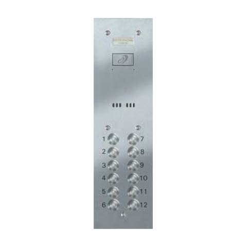 Entryphone - 12 Button Audio Vandal Resistant Entrance Panel