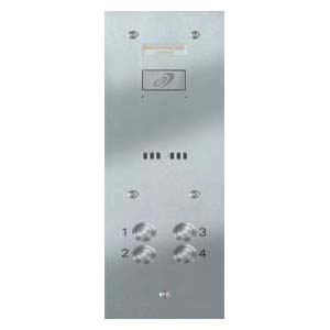Entryphone - 4 Button Vandal Resistant Stainless Steel Audio Panel