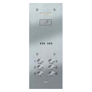 Entryphone - 6 Button Brushed Stainless Steel Entrance Panel