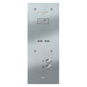 Entryphone - 2 Button Audio Vandal Resistant Staineless Steel Panel
