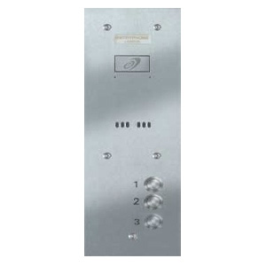 Entryphone - 3 Button Vandal Resistant Brushed Stainless Steel Panel