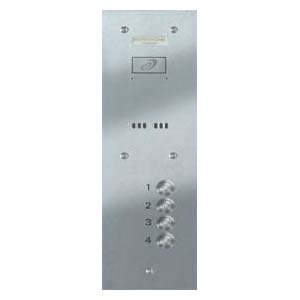 Entryphone - 4 Button Audio Vandal Resistant Stainless Steel Panel