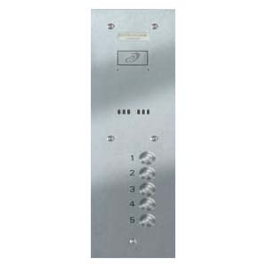 Entryphone - 5 Button Flush Vandal Resistant Stainless Steel Panel