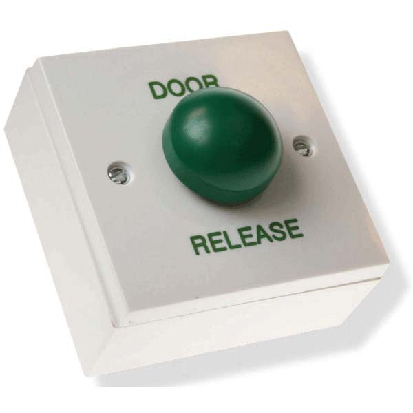 Exit Button Plastic Housing with Large Green Dome Button
