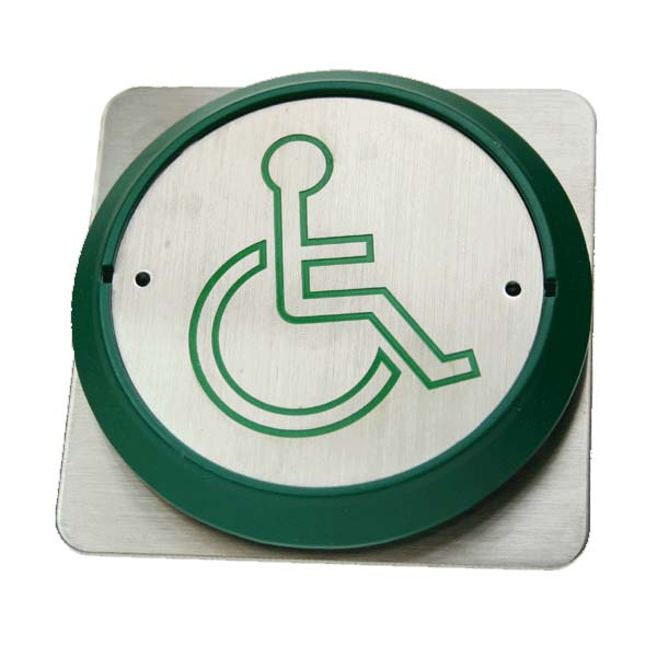 Large Push Button with Green Disabled LOGO