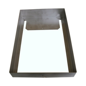 Size D4 Stainless steel hood (surface fit) 409x277x88