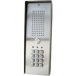 01 button stainless steel audio panel with keypad - surface