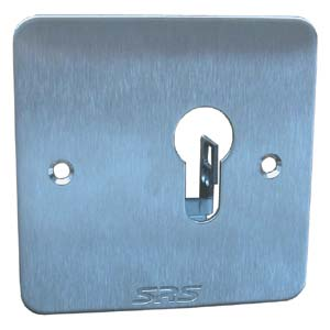 Euro Stainless Steel Key Switch Plate (Flush)