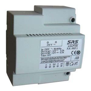SRS - Power Supply 12V AC,12V DC, 5 DIN