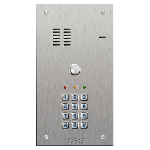 SRS 1 button s. steel VR audio entry panel + keypad Size A