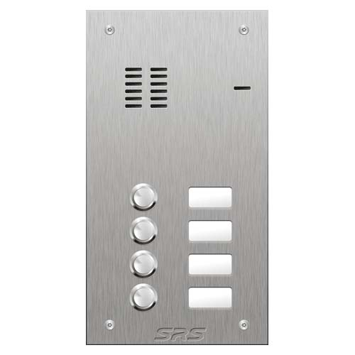 SRS 4 button s. steel VR audio entry panel Size A
