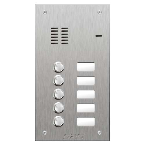 SRS 5 button s. steel VR audio entry panel Size A
