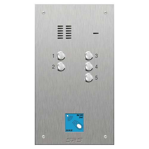 SRS 5 button s. steel VR audio entry panel + prox. Size D