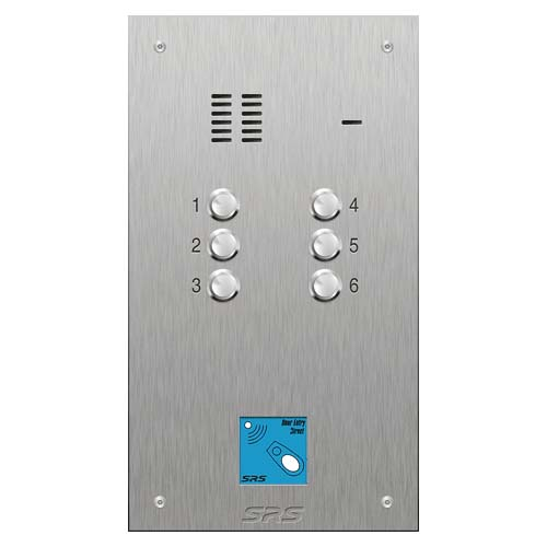 SRS 6 button s. steel VR audio entry panel + prox. Size D