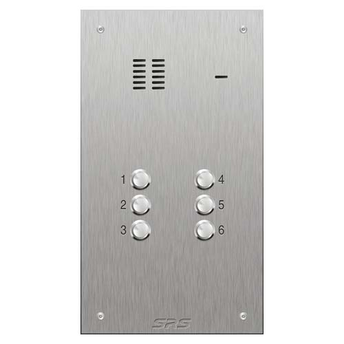 SRS 6 button s. steel VR audio entry panel Size D