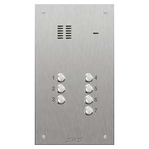 SRS 7 button s. steel VR audio entry panel Size D