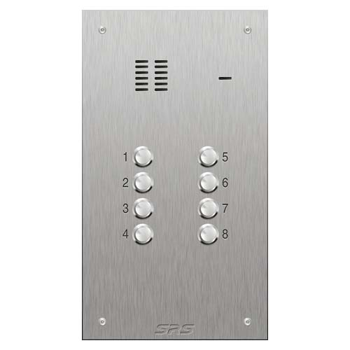SRS 8 button s. steel VR audio entry panel Size D