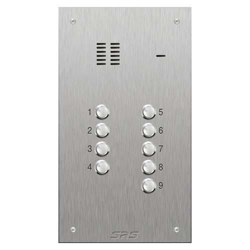 SRS 9 button s. steel VR audio entry panel Size D