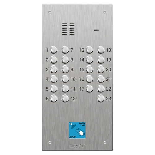 SRS 23 button s. steel VR audio entry panel + prox. Size D2