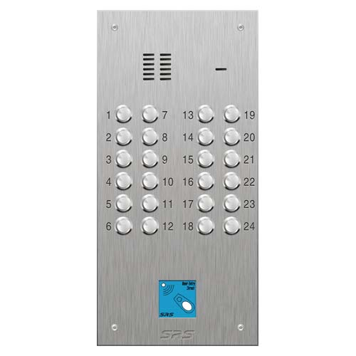 SRS 24 button s. steel VR audio entry panel + prox. Size D2