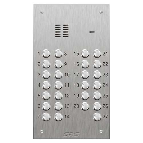 SRS 27 button s. steel VR audio entry panel Size D