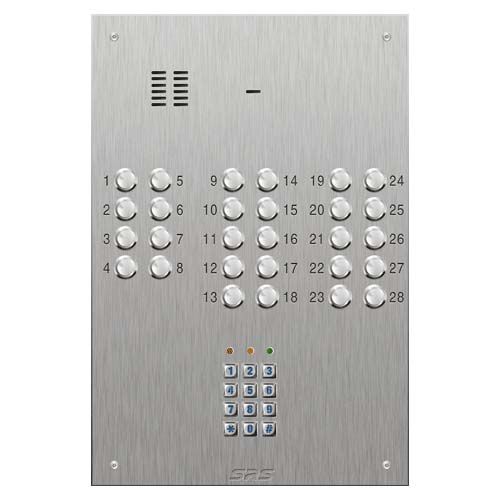 SRS 28 button s. steel VR audio entry panel + keypad Size D4