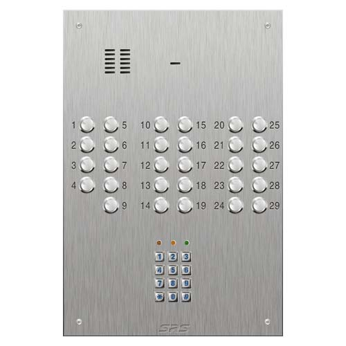 SRS 29 button s. steel VR audio entry panel + keypad Size D4