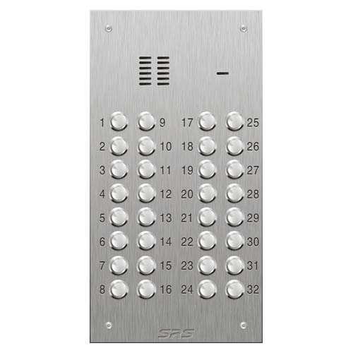 SRS 32 button s. steel VR audio entry panel Size D1