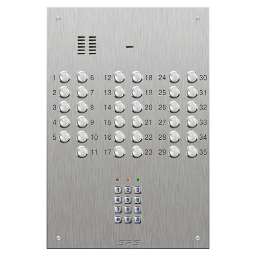 SRS 35 button s. steel VR audio entry panel + keypad Size D4
