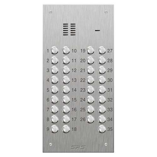 SRS 35 button s. steel VR audio entry panel Size D2