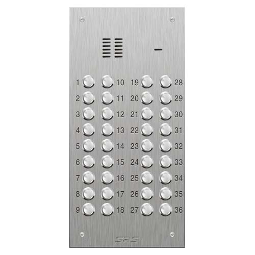 SRS 36 button s. steel VR audio entry panel Size D2