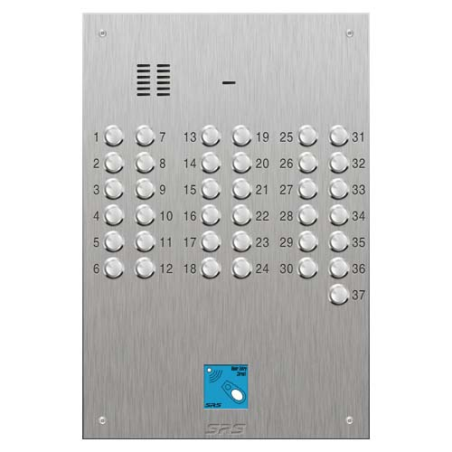 SRS 37 button s. steel VR audio entry panel + prox. Size D4