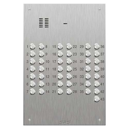 SRS 43 button s. steel VR audio entry panel Size D4