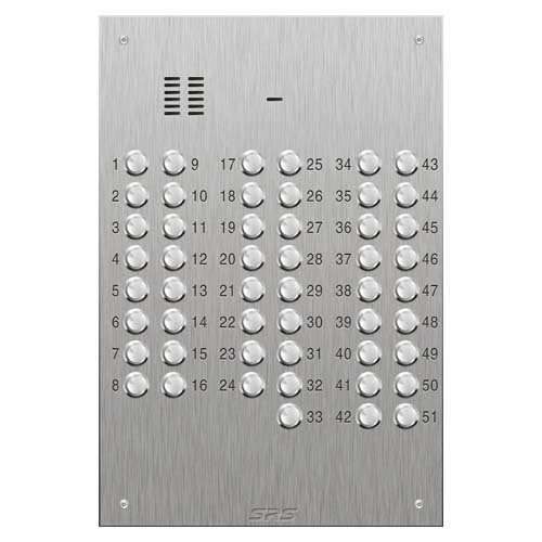 SRS 51 button s. steel VR audio entry panel Size D4