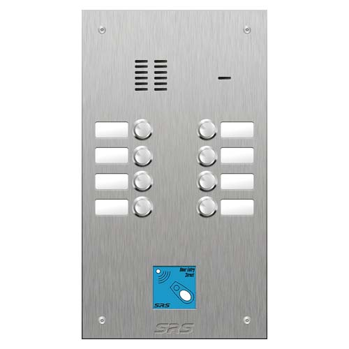 SRS 8 button s. steel VR audio entry panel + prox. Size D