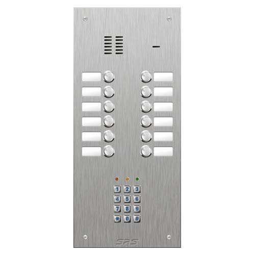 SRS 12 button s. steel VR audio entry panel + keypad Size D3
