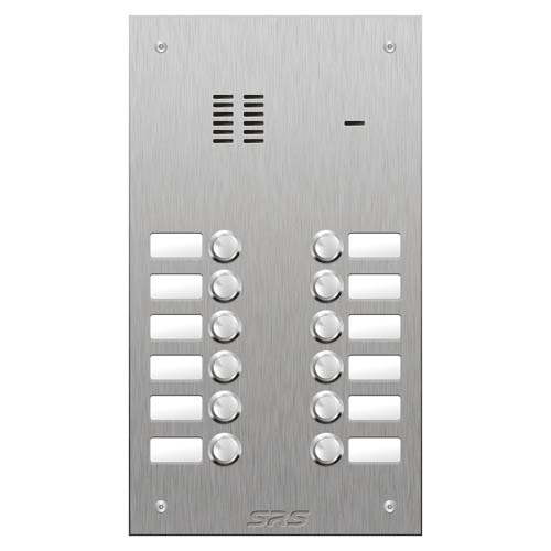 SRS 12 button s. steel VR audio entry panel Size D