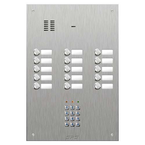 SRS 15 button s. steel VR audio entry panel + keypad Size SP