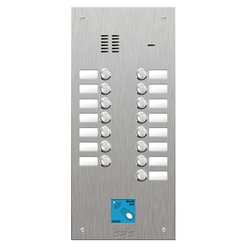 SRS 15 button s. steel VR audio entry panel + prox. Size D3