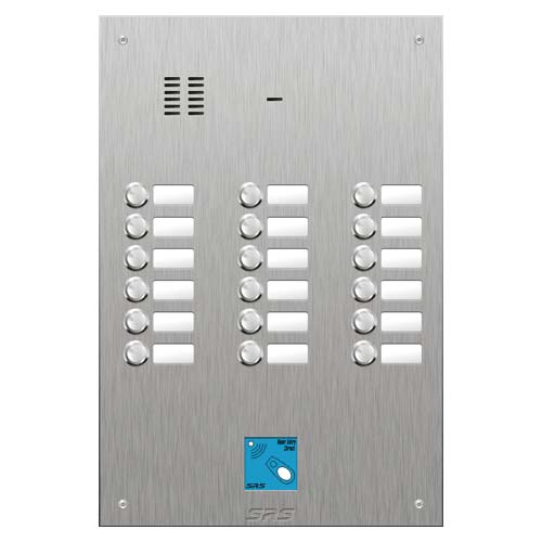 SRS 18 button s. steel VR audio entry panel + prox. Size D4