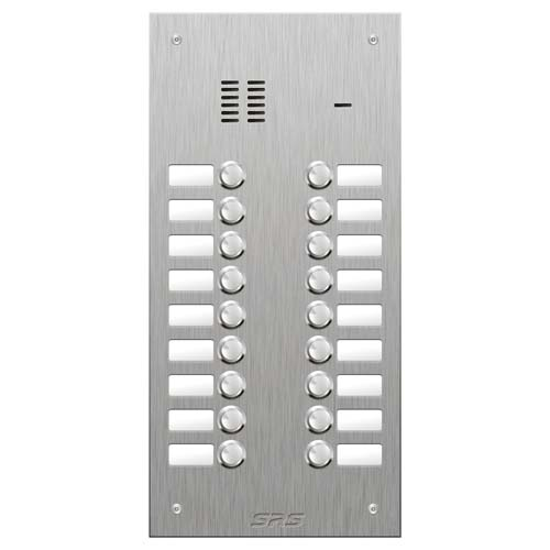 SRS 18 button s. steel VR audio entry panel Size D2