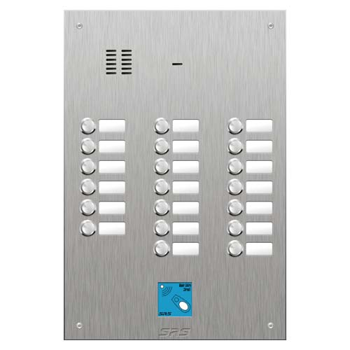 SRS 20 button s. steel VR audio entry panel + prox. Size D4