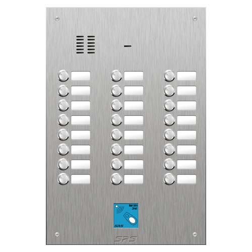 SRS 24 button s. steel VR audio entry panel + prox. Size D4