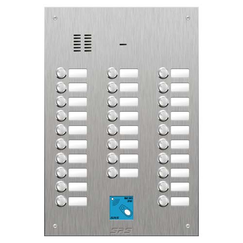 SRS 28 button s. steel VR audio entry panel + prox. Size D4
