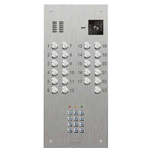 SRS 23 button s. steel VR video entry panel + keypad Size D3