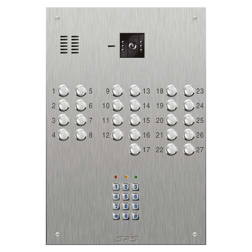 SRS 27 button s. steel VR video entry panel + keypad Size D4